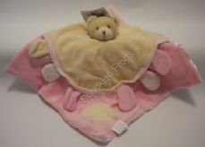Teddy Comfort Blanket with Crinkle sound tags, [BC23]